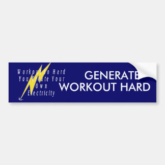 TOP Workout Electricity Bumper Sticker