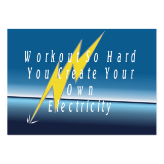 TOP Workout Electricity Business Cards