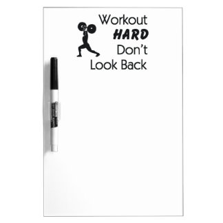 TOP Workout Hard Dry-Erase Board