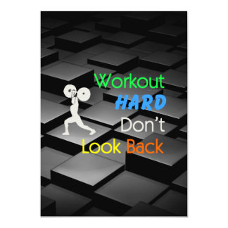 TOP Workout Hard 5x7 Paper Invitation Card