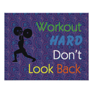 TOP Workout Hard Posters