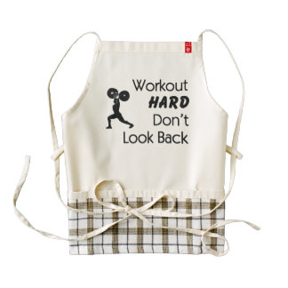 TOP Workout Hard Zazzle HEART Apron