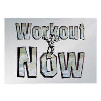 TOP Workout Now Large Business Cards (Pack Of 100)
