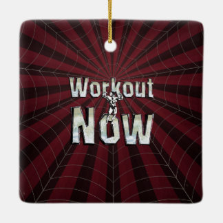 TOP Workout Now Ceramic Ornament
