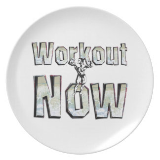 TOP Workout Now Dinner Plate