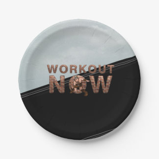 TOP Workout Now Paper Plate