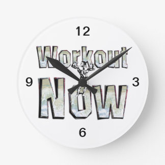TOP Workout Now Round Clock
