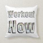 TOP Workout Now Throw Pillow