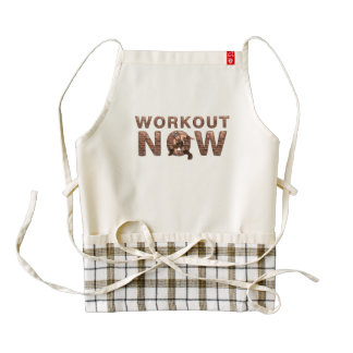 TOP Workout Now Zazzle HEART Apron