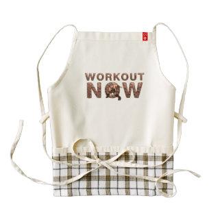 TOP Workout Now Zazzle HEART Apron