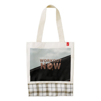 TOP Workout Now Zazzle HEART Tote Bag