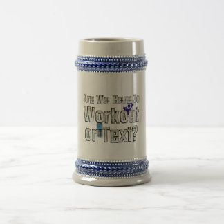 TOP Workout or Text Beer Stein