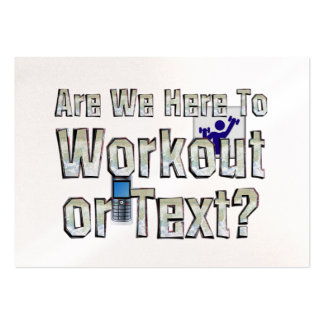 TOP Workout or Text Large Business Cards (Pack Of 100)