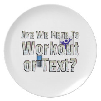 TOP Workout or Text Dinner Plate