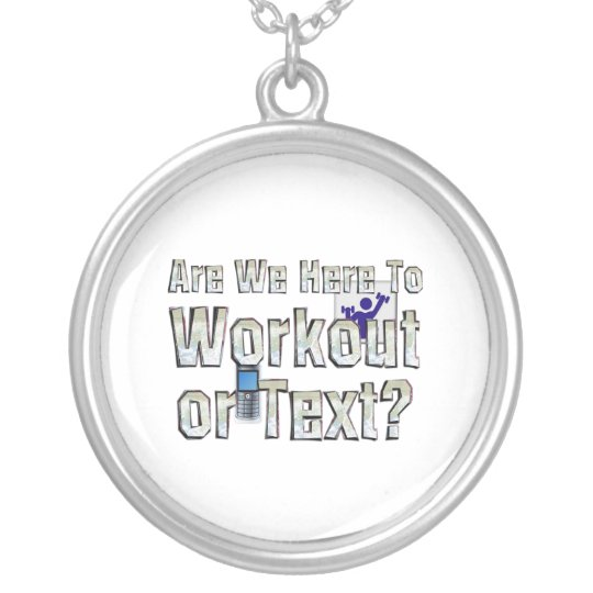TOP Workout or Text Silver Plated Necklace