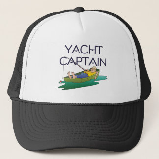 TOP Yacht Captain Fun Trucker Hat