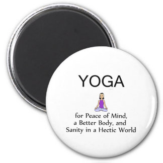 TOP Yoga Slogan 2 Inch Round Magnet