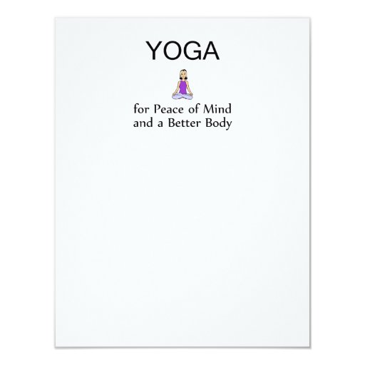 TOP Yoga Slogan 4.25x5.5 Paper Invitation Card
