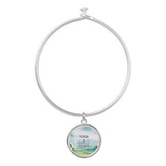 TOP Yoga Slogan Bangle Bracelet