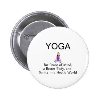 TOP Yoga Slogan 2 Inch Round Button