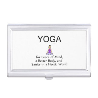 TOP Yoga Slogan Case For Business Cards