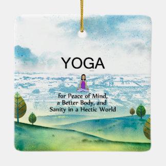 TOP Yoga Slogan Ceramic Ornament