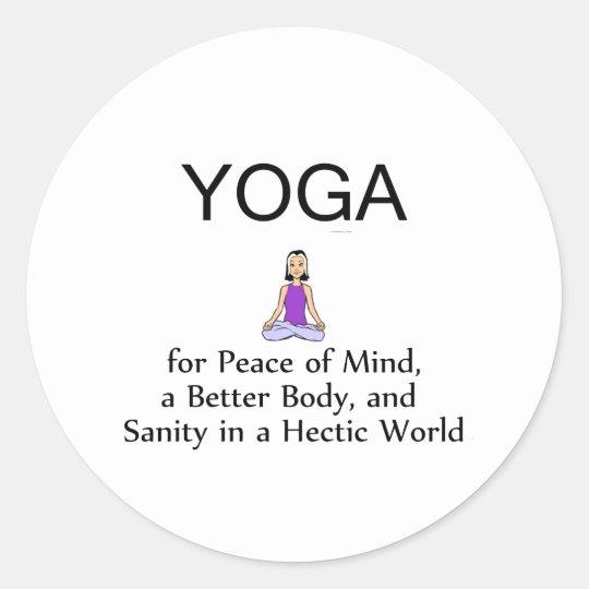 TOP Yoga Slogan Classic Round Sticker