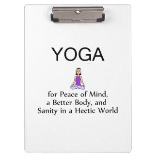 TOP Yoga Slogan Clipboard