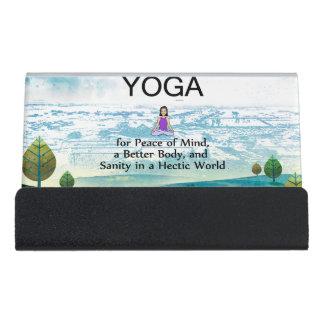 TOP Yoga Slogan Desk Business Card Holder
