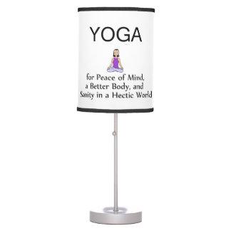 TOP Yoga Slogan Desk Lamp