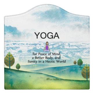 TOP Yoga Slogan Door Sign