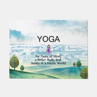 TOP Yoga Slogan Doormat