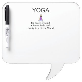TOP Yoga Slogan Dry-Erase Board