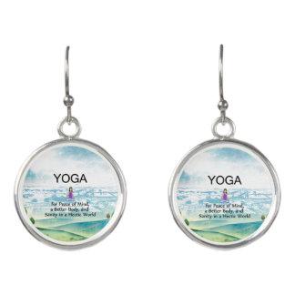 TOP Yoga Slogan Earrings