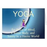 TOP Yoga Slogan Greeting Card
