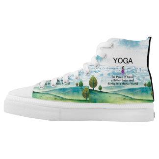 TOP Yoga Slogan High-Top Sneakers