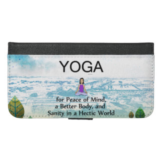 TOP Yoga Slogan iPhone 6/6s Plus Wallet Case