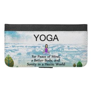 TOP Yoga Slogan iPhone 6/6s Plus Wallet Case