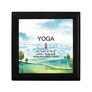 TOP Yoga Slogan Keepsake Box