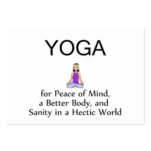 TOP Yoga Slogan Large Business Card