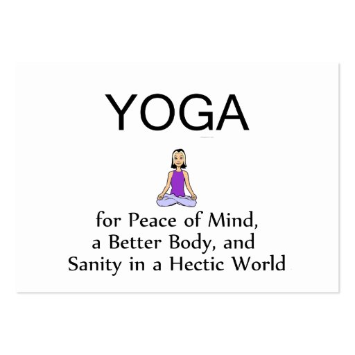 TOP Yoga Slogan Large Business Cards (Pack Of 100)