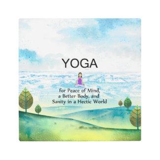 TOP Yoga Slogan Metal Photo Print