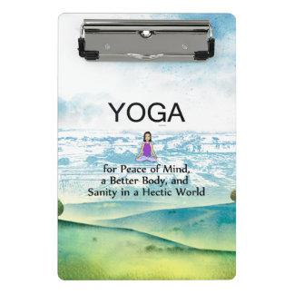 TOP Yoga Slogan Mini Clipboard