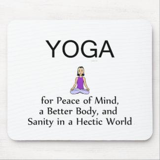 TOP Yoga Slogan Mouse Pad