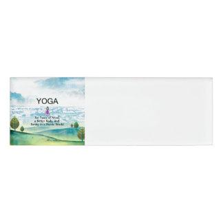 TOP Yoga Slogan Name Tag