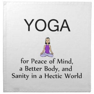 TOP Yoga Slogan Napkin