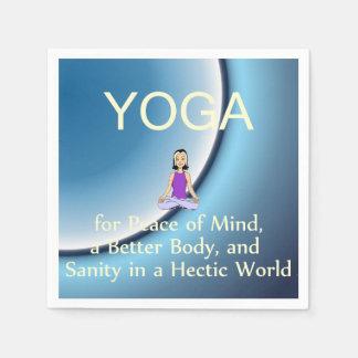 TOP Yoga Slogan Paper Napkin