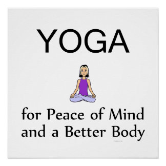 TOP Yoga Slogan Perfect Poster