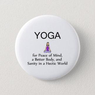 TOP Yoga Slogan Pinback Button
