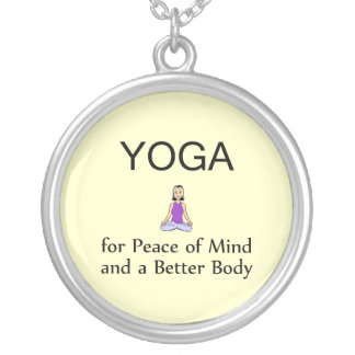 TOP Yoga Slogan Silver Plated Necklace